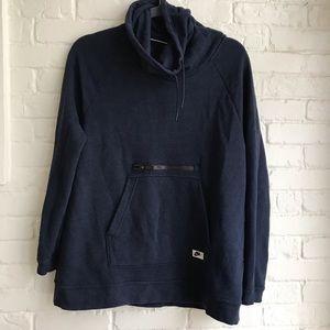Nike High Neck Blue Sweatshirt Pockets Medium